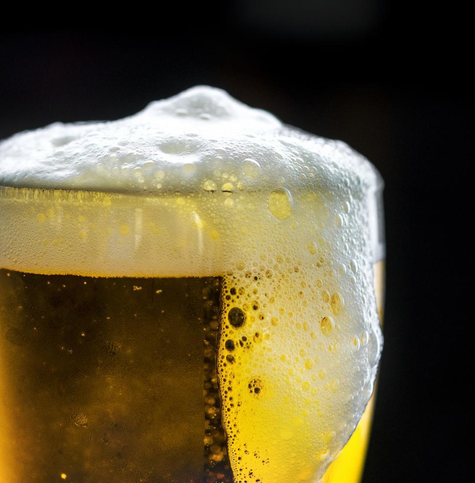 Download Free Stock HD Photo of Close up of beer foam Online