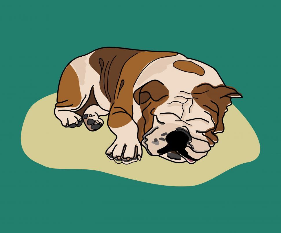 Download Free Stock HD Photo of Vector drawing of a bulldog Online