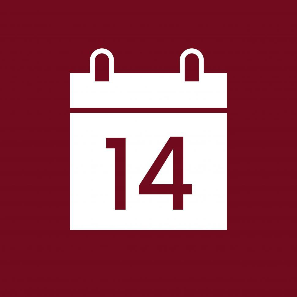 Download Free Stock HD Photo of Calendar sign vector icon Online