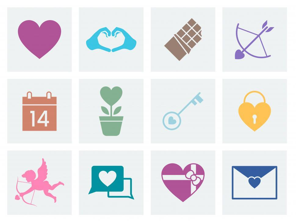 Download Free Stock HD Photo of Valentine s day vector icons Online