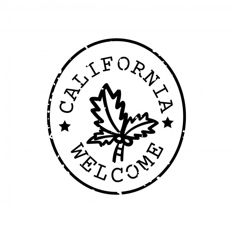 Download Free Stock HD Photo of California stamp vector Online