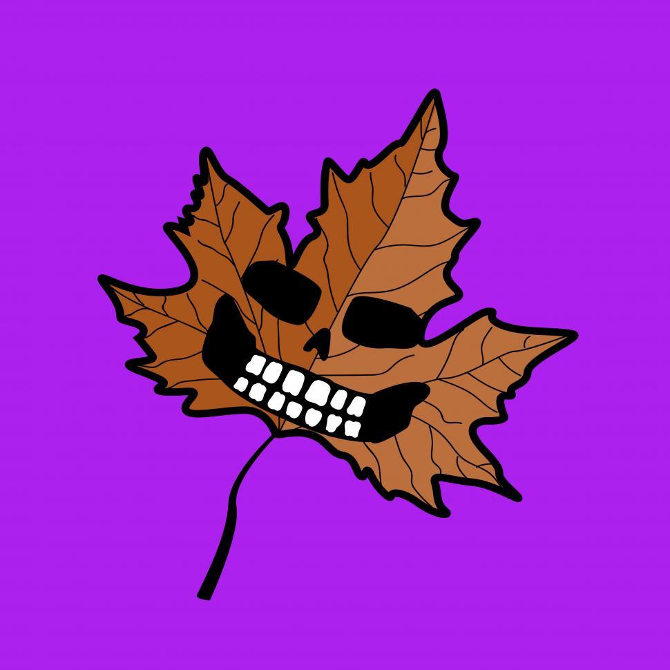 Download Free Stock HD Photo of Halloween maple leaf vector Online