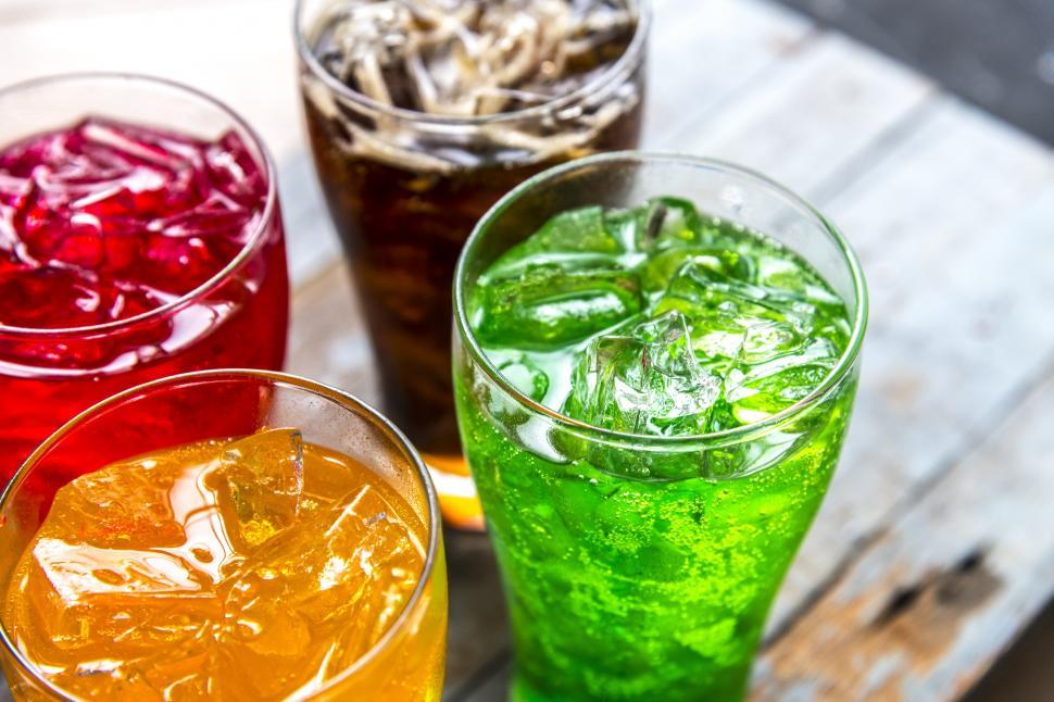 Download Free Stock HD Photo of Colorful soft drinks in the glasses Online