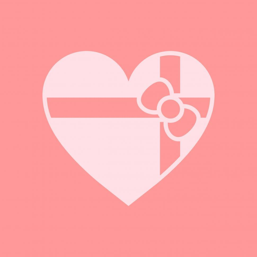 Get Free Stock Photos Of Valentine Gift Heart Vector Icon Online