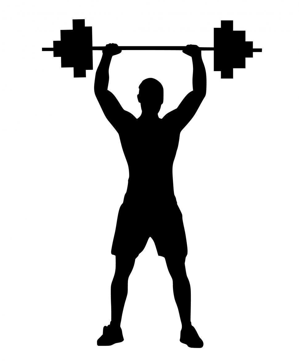 Download Free Stock HD Photo of weight lifting Silhouette  Online