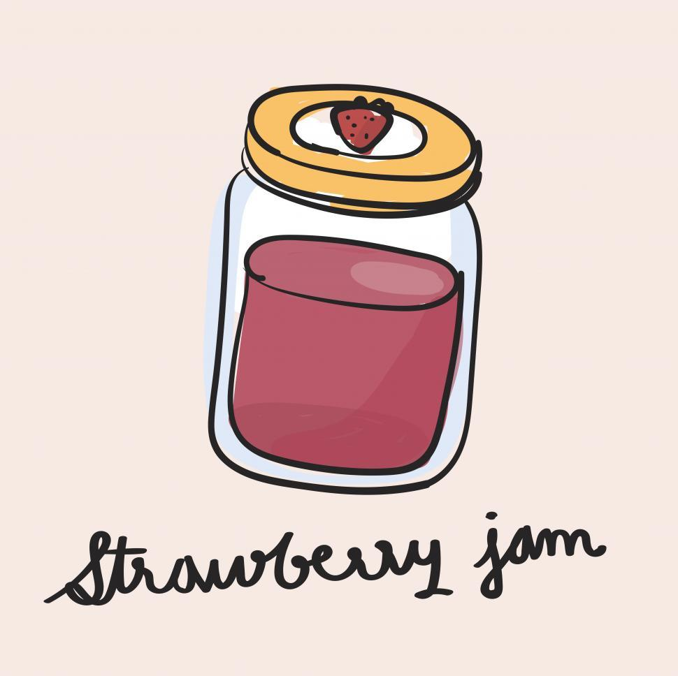 Download Free Stock HD Photo of Strawberry jam vector icon Online