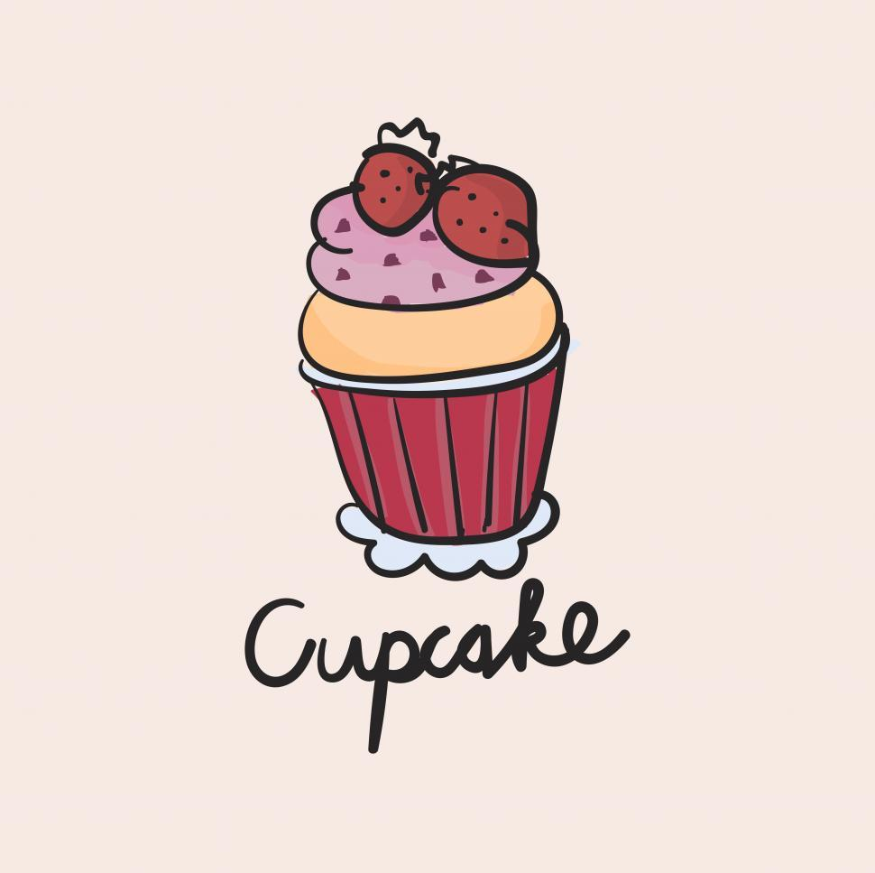 Download Free Stock HD Photo of Cup cake vector icon Online