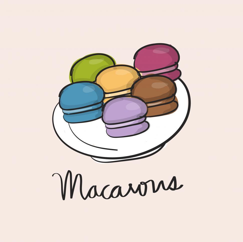 Download Free Stock HD Photo of Macaroon or macaron sweet meringue vector icon Online