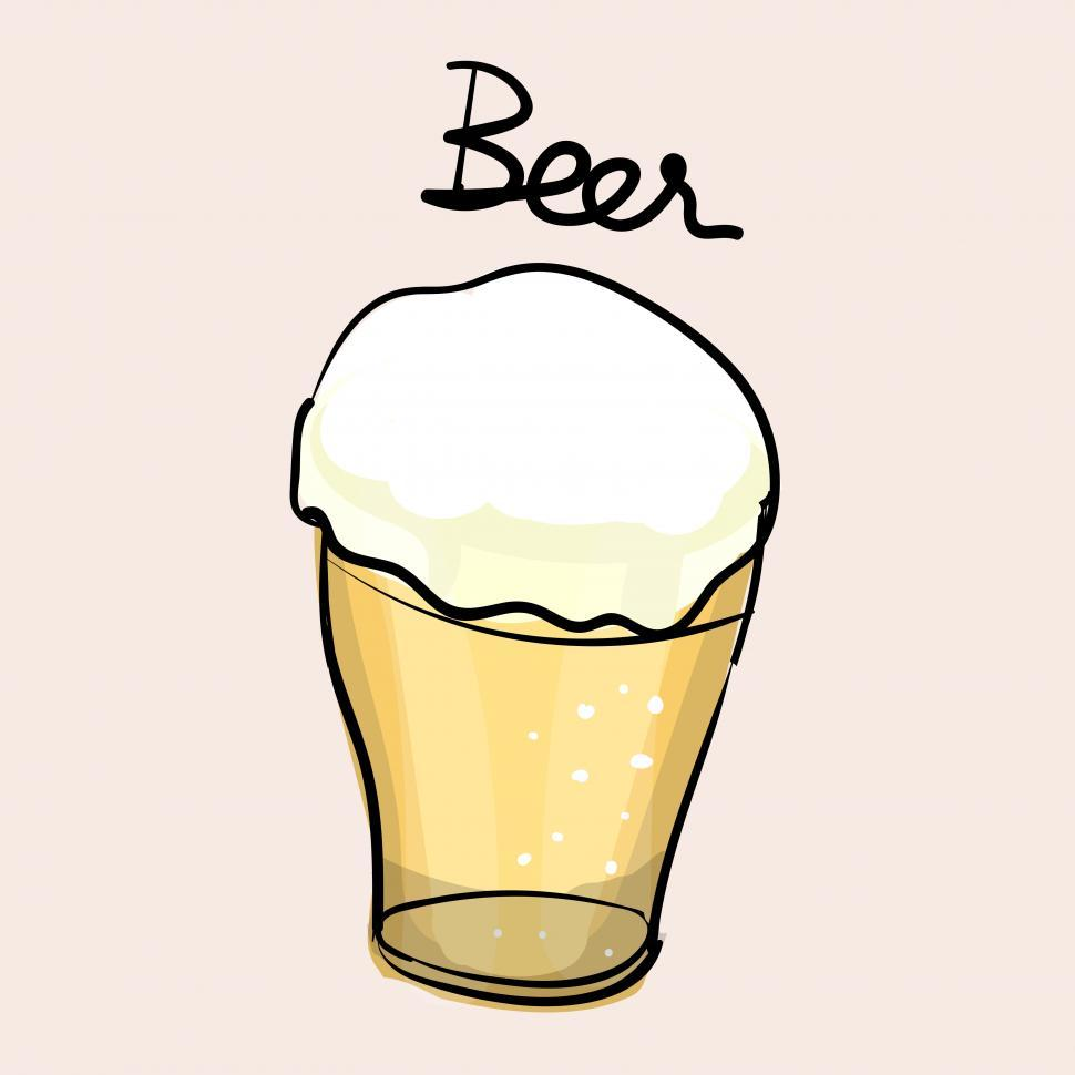 Download Free Stock HD Photo of Beer glass vector icon Online