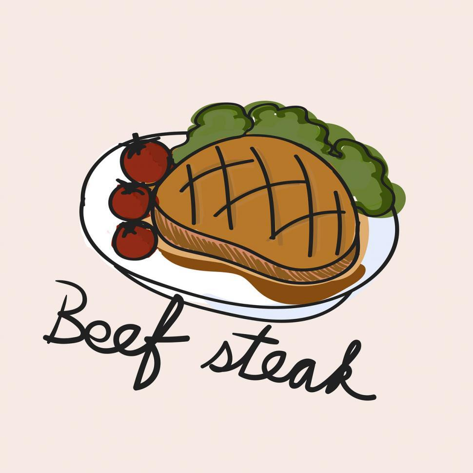 Download Free Stock HD Photo of Beef steak vector icon Online