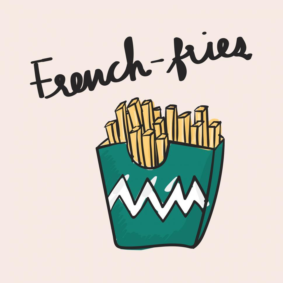Download Free Stock HD Photo of French fries vector icon Online