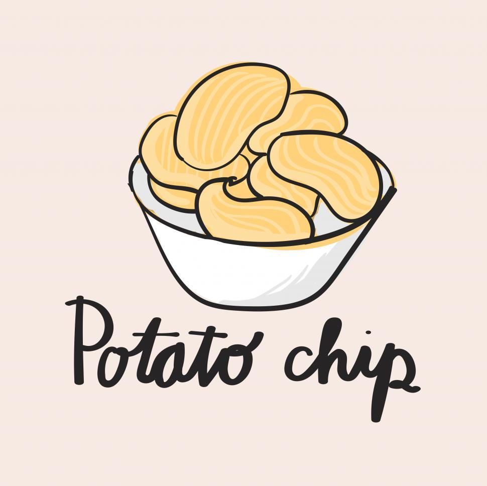 Download Free Stock HD Photo of Potato chip vector icon Online