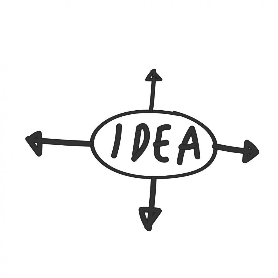 Download Free Stock HD Photo of Idea direction vector Online