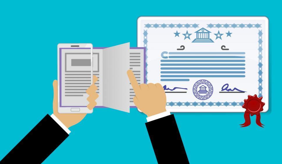 Download Free Stock HD Photo of Online certificate  Online