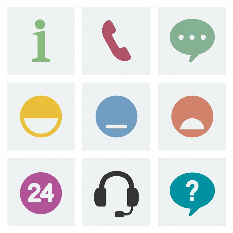 Download Free Stock HD Photo of Customer service vector icons Online