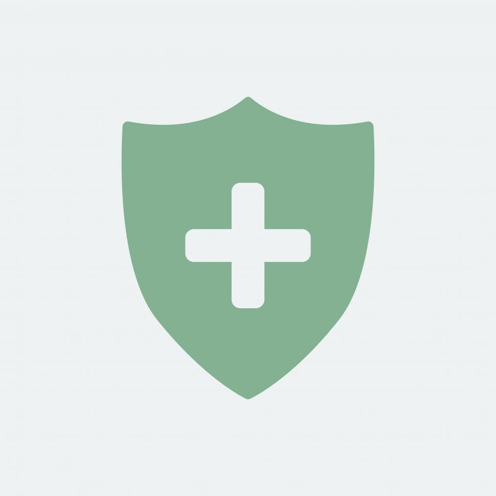 Download Free Stock HD Photo of Medical shield icon vector Online