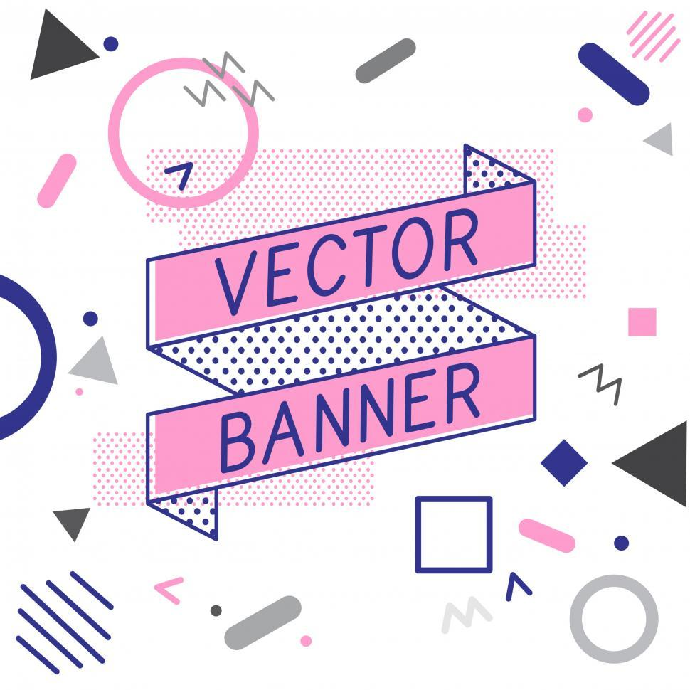 Download Free Stock HD Photo of Ribbon banner icons vector Online