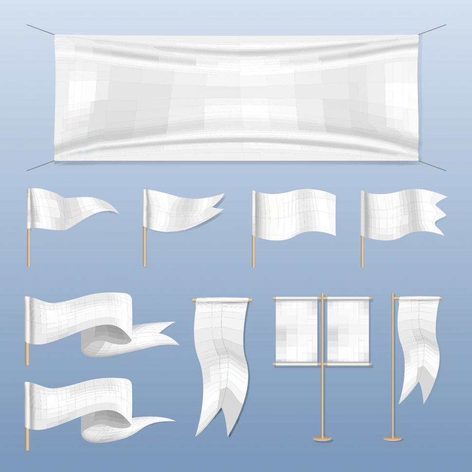 Download Free Stock HD Photo of Flag banner icons vector Online