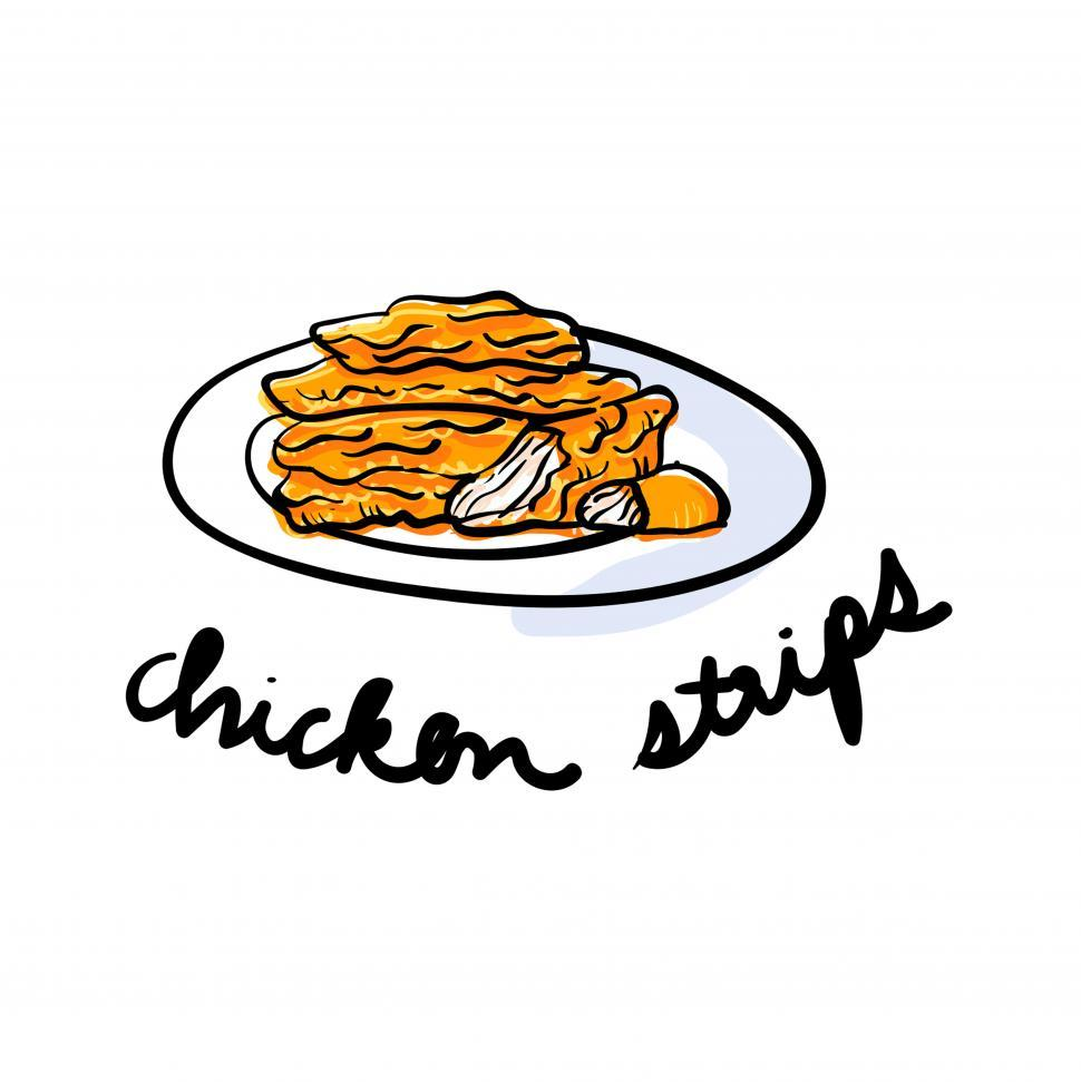 Download Free Stock HD Photo of Chicken strips vector icon Online