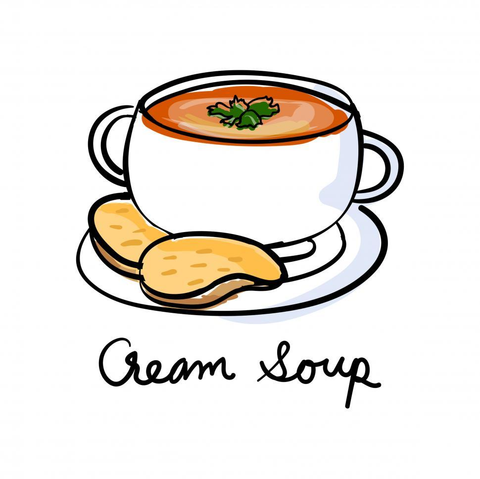 Download Free Stock HD Photo of Cream soup vector icon Online