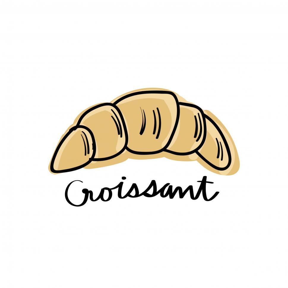 Download Free Stock HD Photo of Croissant vector icon Online
