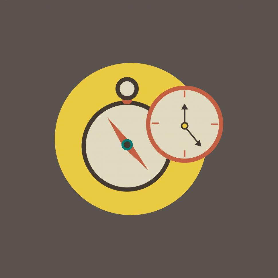 Download Free Stock HD Photo of Clock and stopwatch vector icon Online