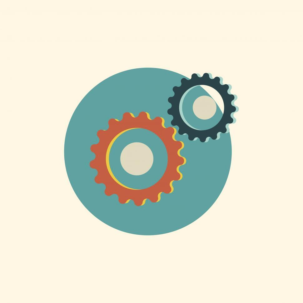 Download Free Stock HD Photo of Gears vector icon Online