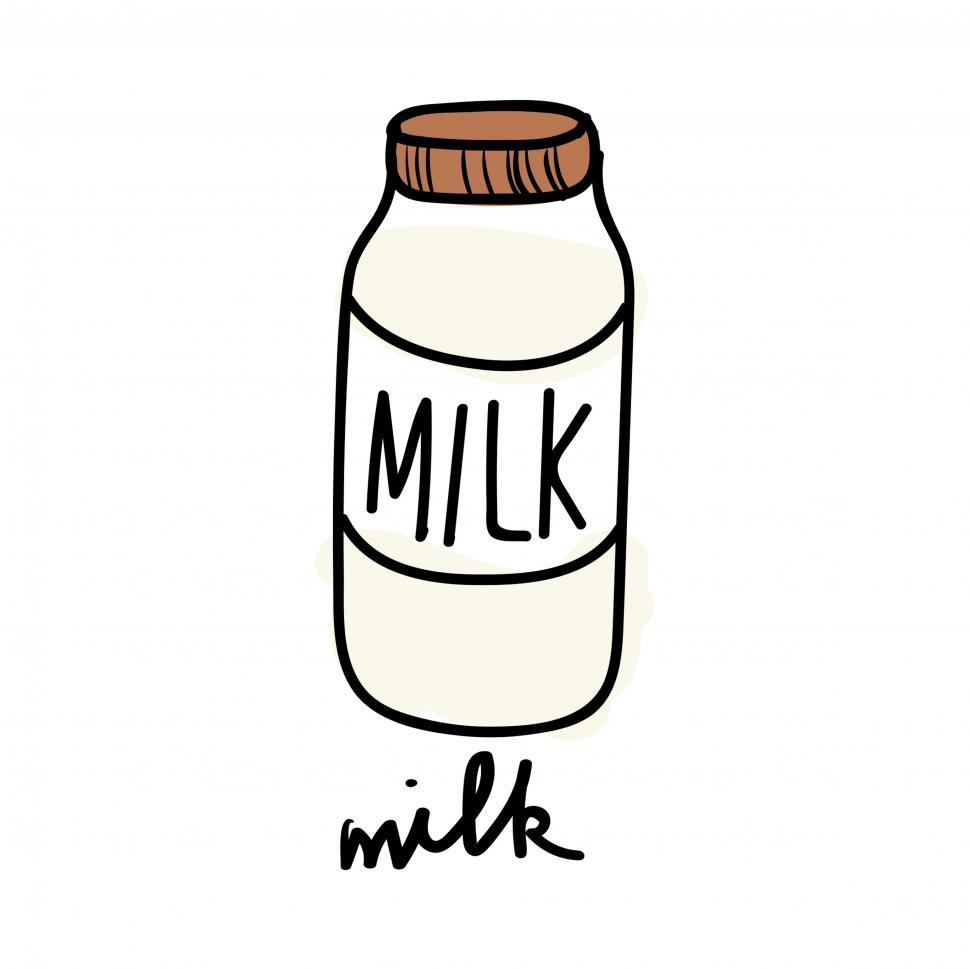 Download Free Stock HD Photo of Milk bottle vector icon Online