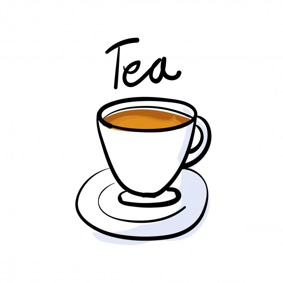 Download Free Stock HD Photo of Cup of tea vector icon Online