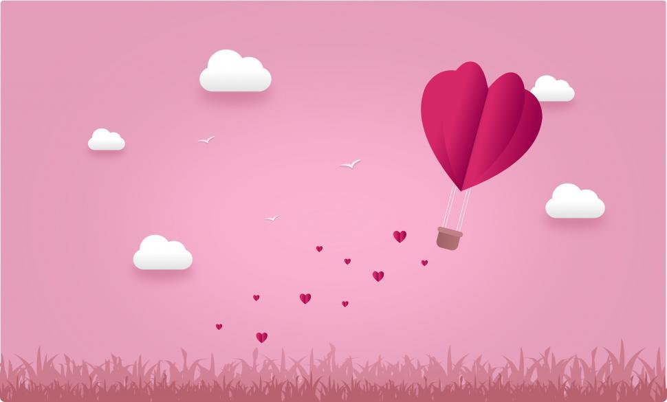 Download Free Stock HD Photo of Love Concept - Hearts and Clouds - with Copyspace  Online