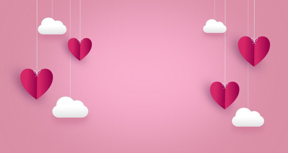 Download Free Stock HD Photo of Love Concept - Hearts in Clouds - with Copyspace  Online