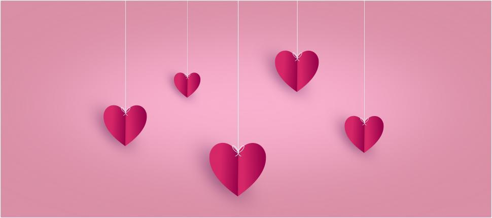 Download Free Stock HD Photo of Love Concept - Hearts on Pink - with Copyspace  Online