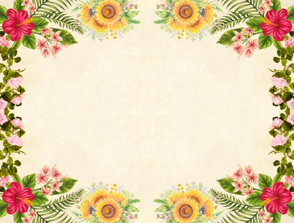 Download Free Stock HD Photo of Flower Background - Colorful Frame Online