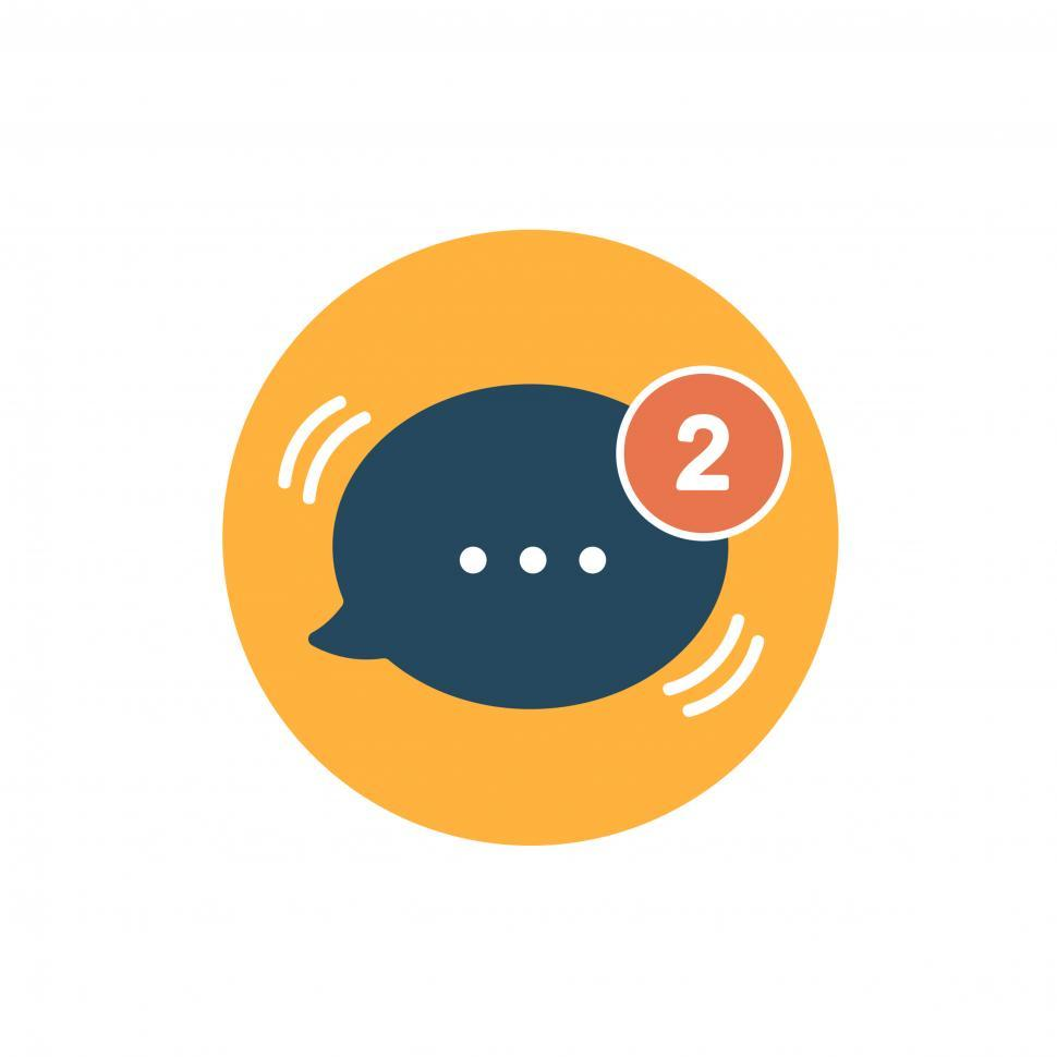 Download Free Stock HD Photo of Message speech bubble vector icon Online
