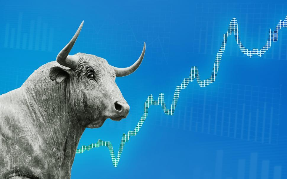 Download Free Stock HD Photo of Finance Background - Bull Market - Stock Market - Money  Online