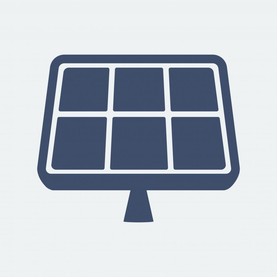 Download Free Stock HD Photo of Solar panel vector icon Online