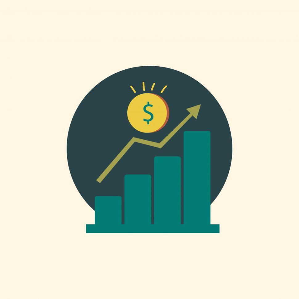 Download Free Stock HD Photo of Upward graph vector icon Online