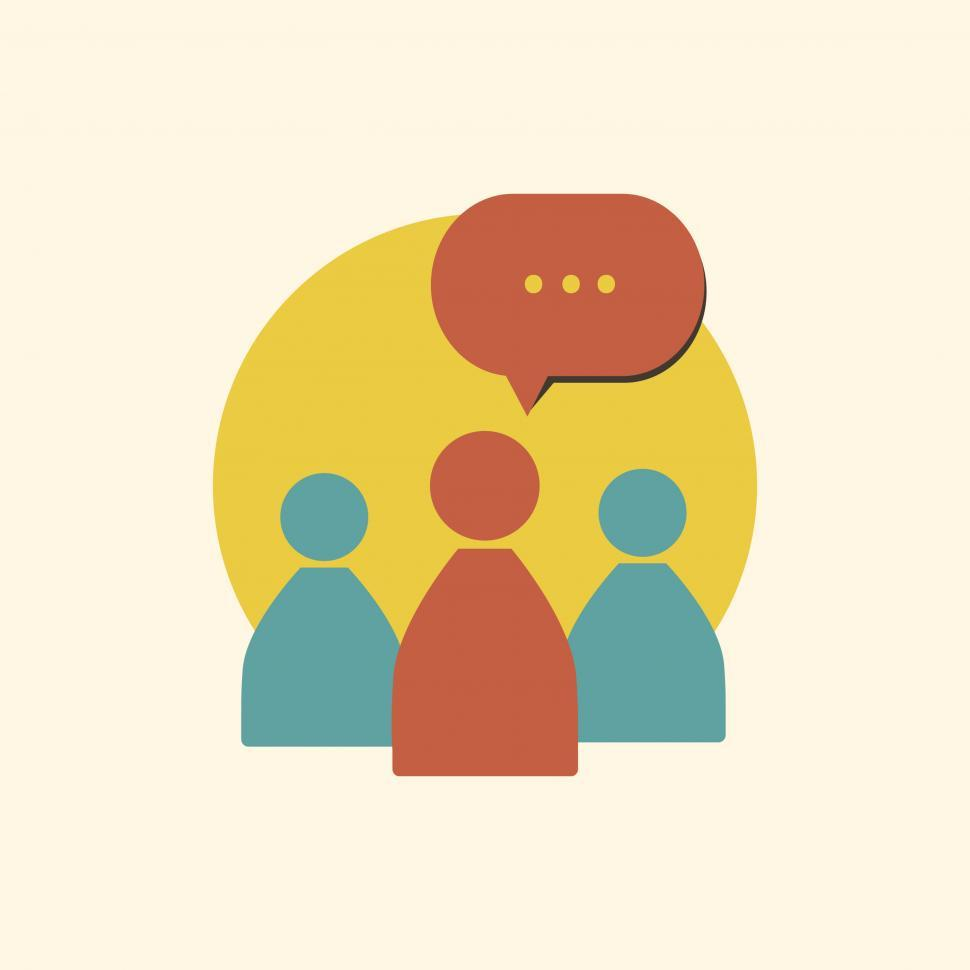 Download Free Stock HD Photo of People and chat vector icon Online