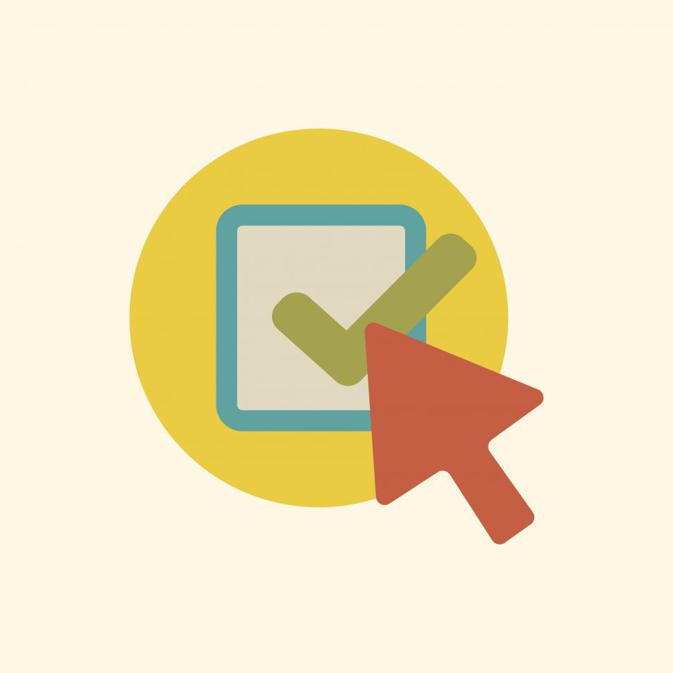 Download Free Stock HD Photo of Click vector icon with check sign Online