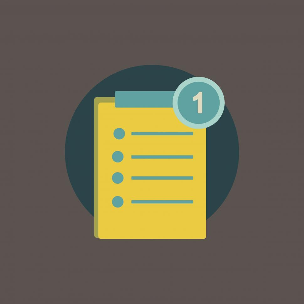 Download Free Stock HD Photo of Clipboard and checklist vector icon Online