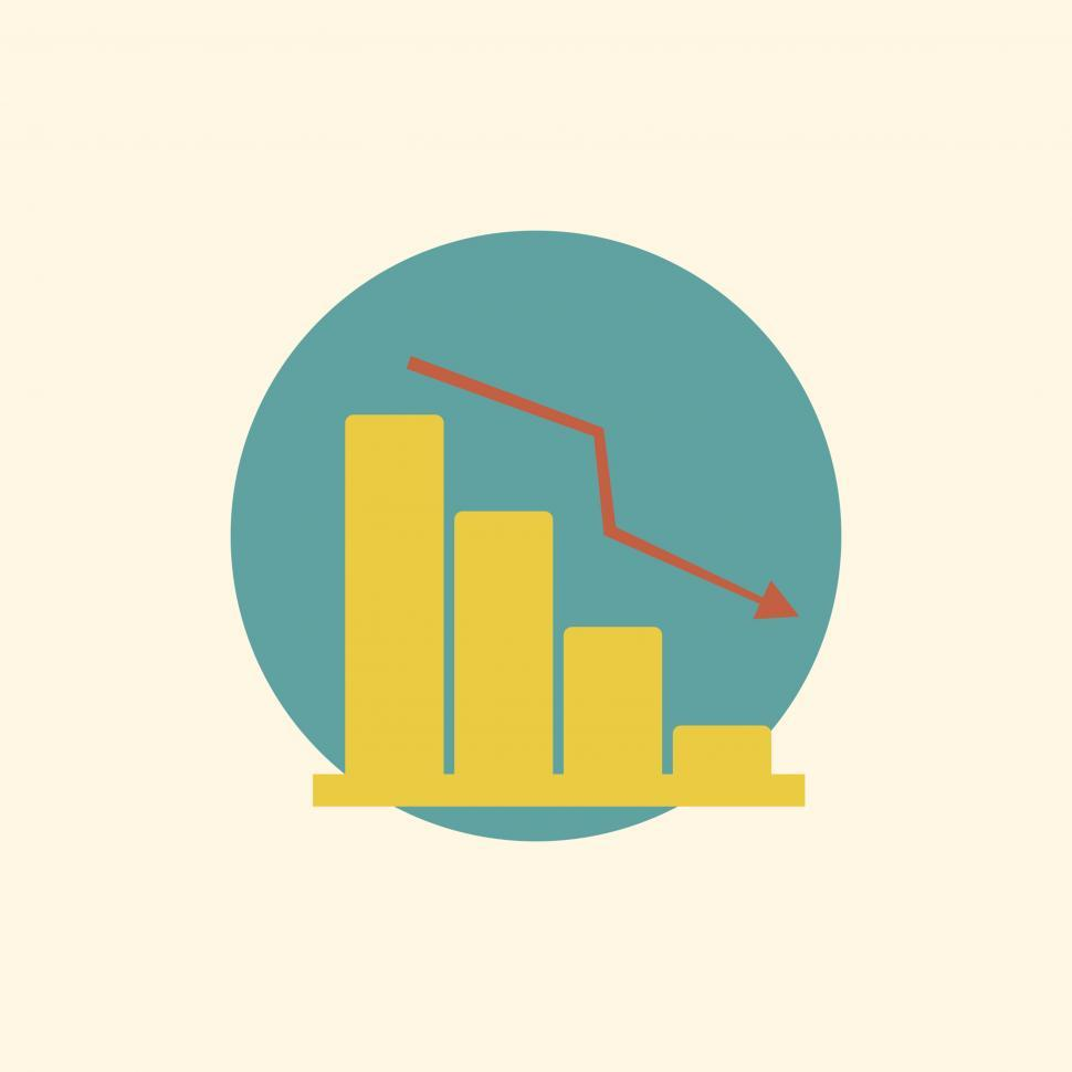 Download Free Stock HD Photo of Downward graph vector icon Online