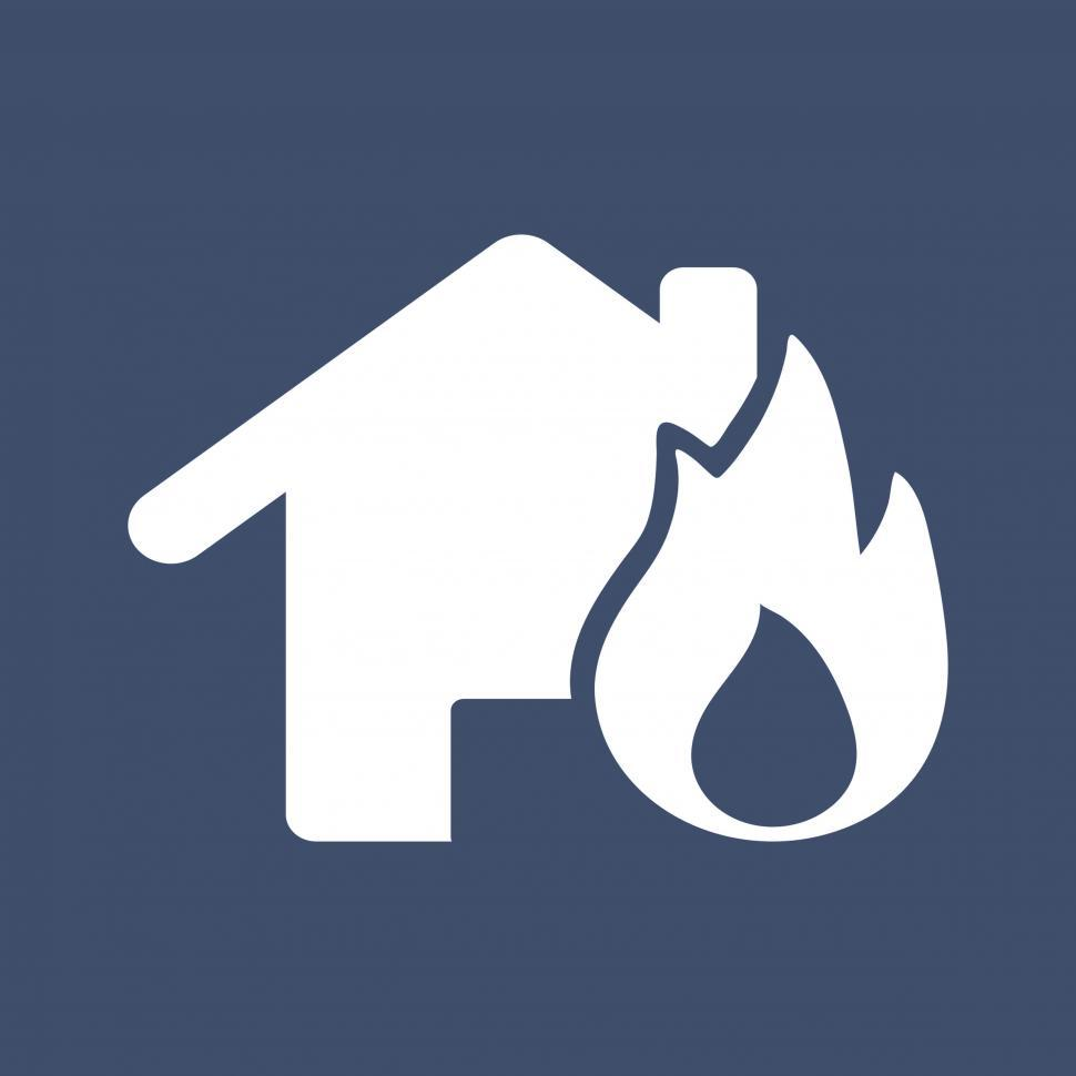Download Free Stock HD Photo of Fire insurance vector Illustration icon Online