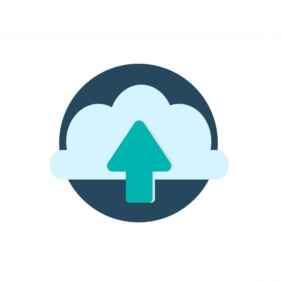Download Free Stock HD Photo of Cloud upload vector icon Online