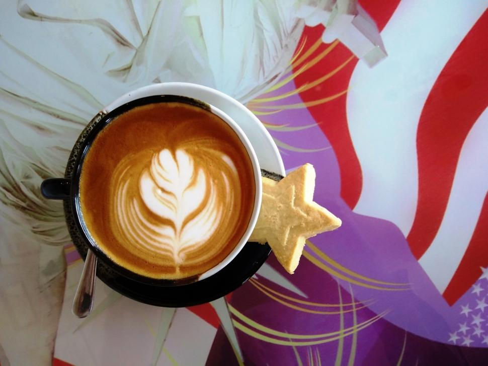 Download Free Stock HD Photo of Hot Coffee Art American Theme  Online