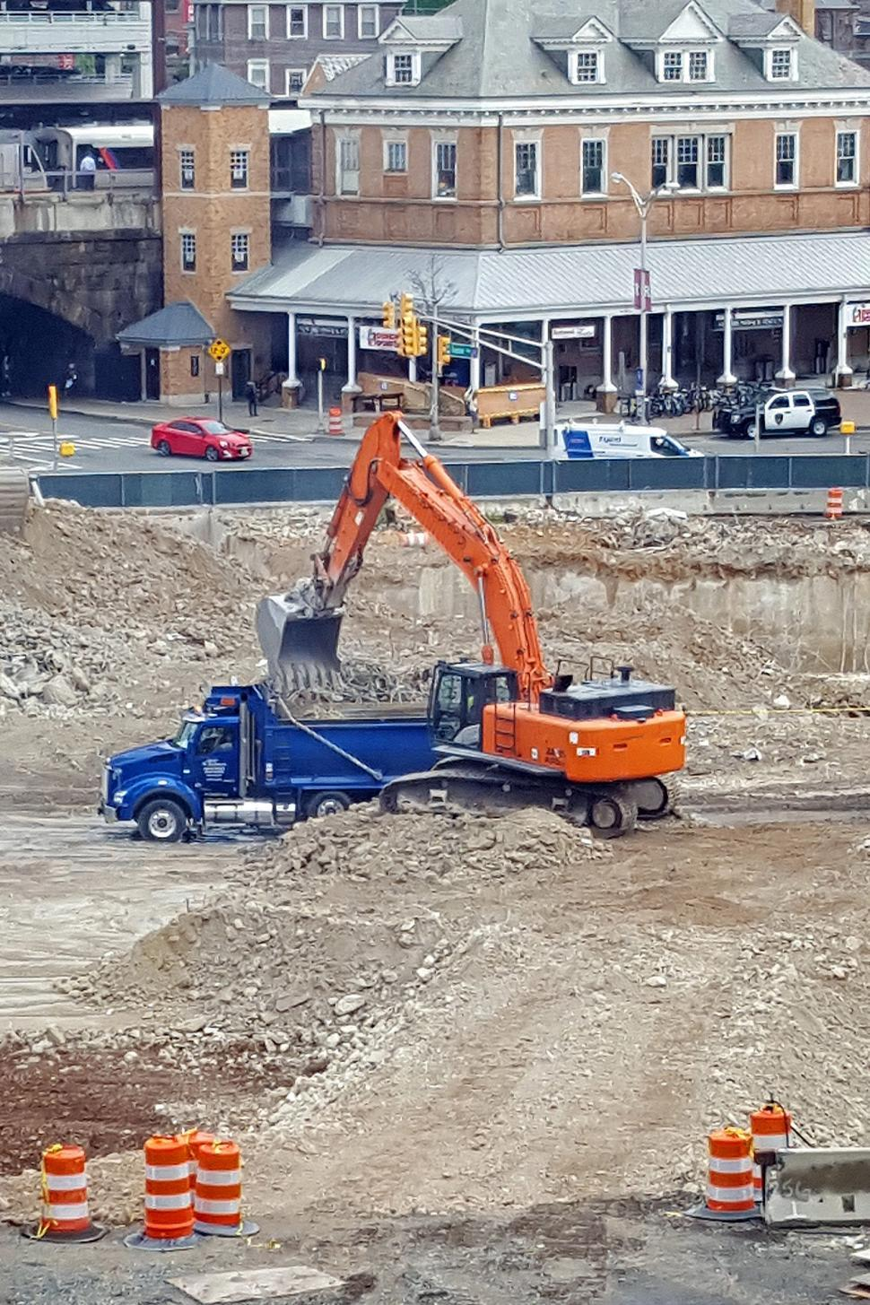 Download Free Stock HD Photo of Excavator and Dump Truck Online
