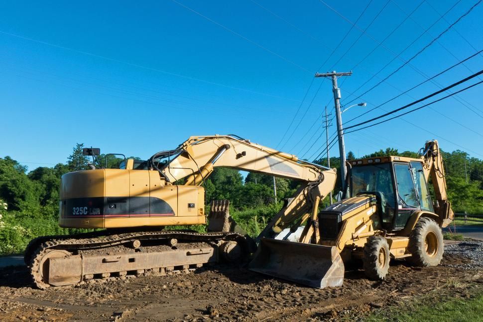 Download Free Stock HD Photo of Front Loader And Excavator Online