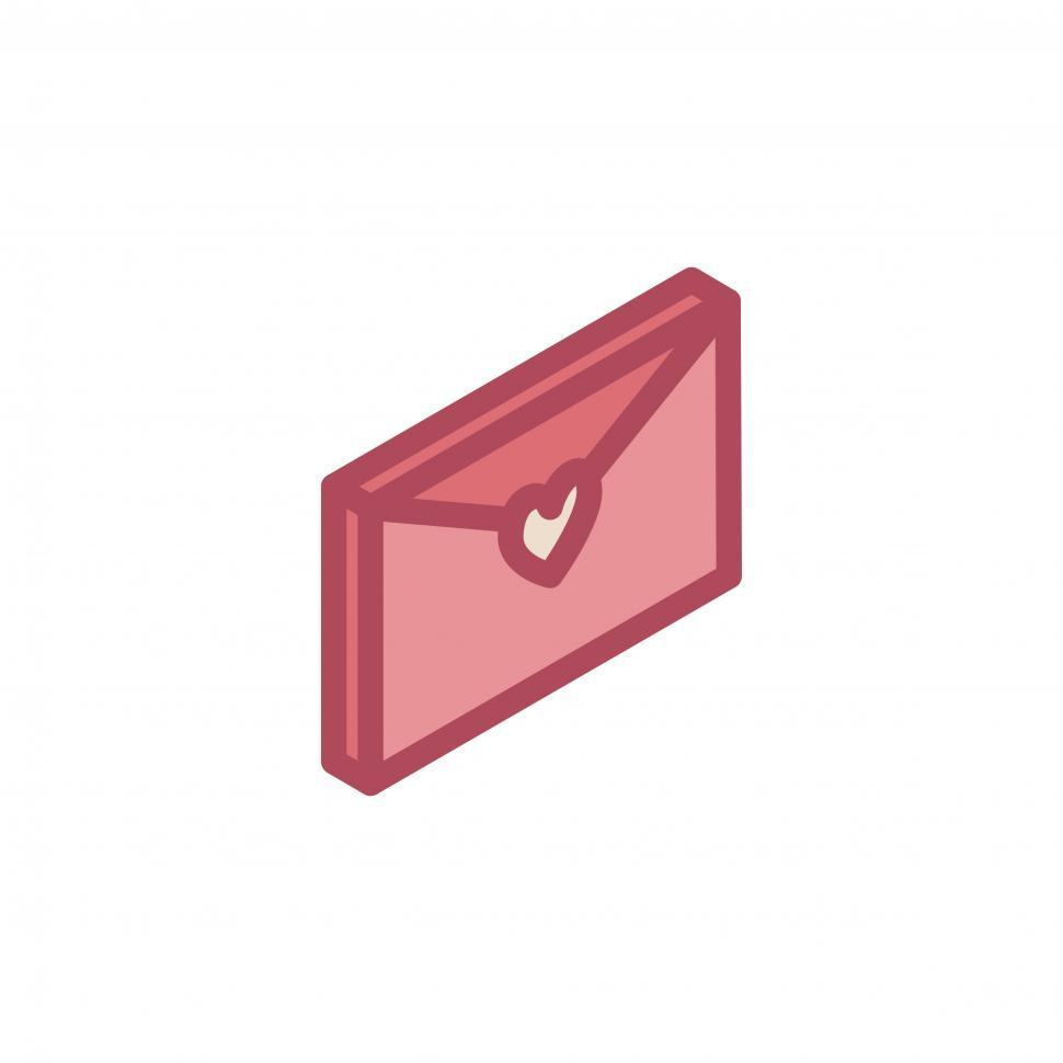 Download Free Stock HD Photo of Valentine envelope vector icon Online