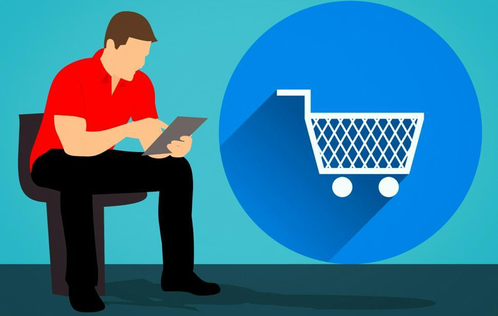 Download Free Stock HD Photo of shopping online with cart Online