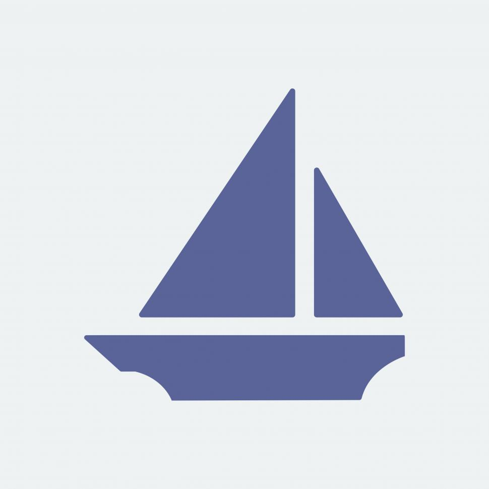 Download Free Stock HD Photo of Sailboat vector icon Online