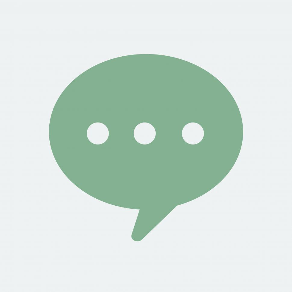 Download Free Stock HD Photo of Speech bubble vector icon Online